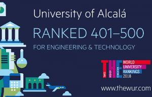 <p><span style=color:#a0410d>La UAH ha logrado situar sus grados tecnol&oacute;gicos y en ingenier&iacute;a entre los 500 mejores del mundo</span>, seg&uacute;n el <a href=https://www.timeshighereducation.com/world-university-rankings/by-subject rel=noopener target=_blank>Times Higher Education Engineering and Technology Subject Ranking.</a></p>  <p>Aunque la UAH hab&iacute;a logrado ya entrar en el Ranking del Times, uno de los m&aacute;s prestigiosos del mundo junto con el QS y Shangh&aacute;i (a los que tambi&eacute;n se ha incorporado en los &uacute;ltimos a&ntilde;os), es la primera vez que consigue hacerse un hueco en su an&aacute;lisis por materias, y m&aacute;s concretamente, en las relacionadas con la <strong>ingenier&iacute;a y la tecnolog&iacute;a</strong>. En su estudio, el Ranking emplea cinco indicadores: docencia (que supone el 30% de la evaluaci&oacute;n), investigaci&oacute;n (otro 30%), citas (para valorar la influencia de sus investigadores, supone un 27,5%), proyecci&oacute;n internacional (representa el 7,5% del total), e ingresos provenientes de la transferencia de la investigaci&oacute;n (un 5%).<br /> <br /> No es esta la primera vez que este &iacute;ndice sit&uacute;a a la UAH entre las instituciones de educaci&oacute;n superior de mayor excelencia internacional: recientemente,<a href=http://portalcomunicacion.uah.es/diario-digital/actualidad/la-uah-sigue-escalando-puestos-en-el-ranking-del-times-y-se-consolida-como-segunda-universidad-publica-espanola-en-internacionalizacion.html rel=noopener target=_blank> la Universidad se consolid&oacute; entre las mejores universidades del mundo en la clasificaci&oacute;n general</a> (Times Higher Education World University Ranking), logrando mejorar sus resultados absolutos en cuatro de las cinco &aacute;reas evaluadas (docencia, volumen y reputaci&oacute;n de las investigaciones realizadas, impacto de las investigaciones e internacionalizaci&oacute;n). Asimismo, la UAH escal&oacute; posiciones en la c